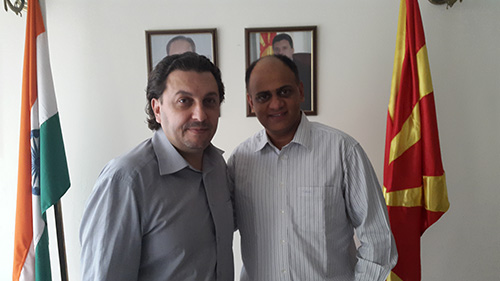 Ayurvedic doctor from Chandigarh meets ambassador of Macedonia in New Delhi